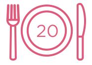 20份餐點