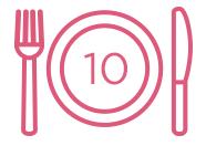 10份餐點